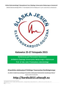 Katowice 25-27 listopada 2015 10 punktów edukacyjnych