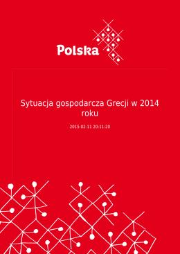 Sytuacja gospodarcza Grecji w 2014 roku