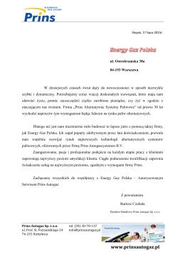 referencje EGP - Energy Gaz Polska
