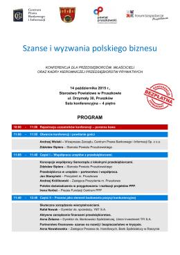 Szanse i wyzwania polskiego biznesu