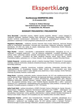 Konferencja EKSPERTKI.ORG