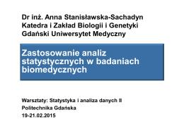 Zastosowanie analiz statystycznych w badaniach biomedycznych