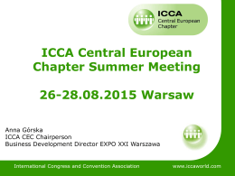 ICCA Central European Chapter Summer Meeting 26