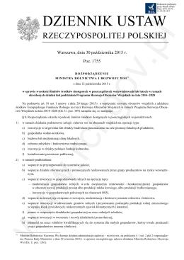 Rozporządzenie Ministra Rolnictwa i Rozwoju Wsi z dnia