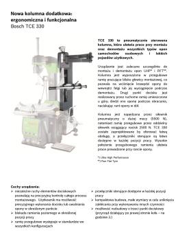 ergonomiczna i funkcjonalna Bosch TCE 330