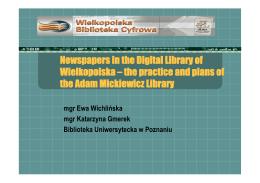 Gazety w Wielkopolskiej Bibliotece Cyfrowej - e-Lis
