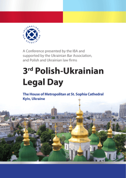 3rd Polish-Ukrainian Legal Day The House of Metropolitan at St
