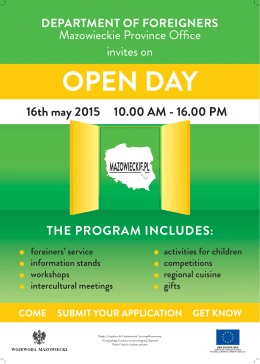 open day department of foreigners