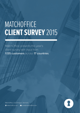 MATCHOFFICE CLIENT SURVEY 2015