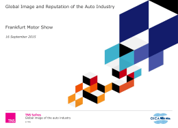 Global Image and Reputation of the Auto Industry