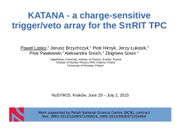 KATANA - a charge-sensitive trigger/veto array for the SπRIT TPC