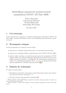 Identyfikacja parametrów geometrycznych manipulatora FANUC LR
