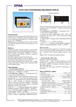stacyjka sterowania ręcznego ssr-26