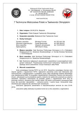 7 TMP - komunikat - Polski Związek Taekwondo Olimpijskiego
