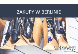 zakupy w berlinie