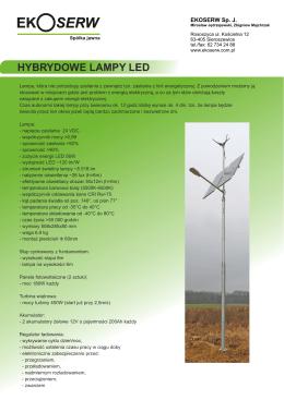 Specyfikacja hybrydowych lamp LED