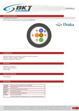 Karta katalogowa Kabel F/UTP PE KAT5e DRUT CZARNY