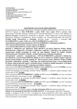 Komornik Sądowy przy Sądzie Rejonowym w Ostródzie Arkadiusz