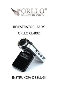 Instrukcja rejestratora samochodowego ORLLO CL