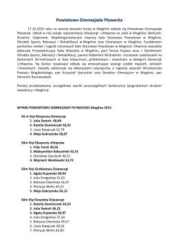 Powiatowa Gimnazjada Pływacka