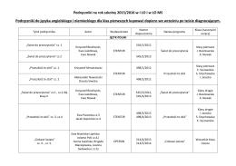 podręczniki dla klas pierwszych - I Liceum Ogólnokształcące w Pile