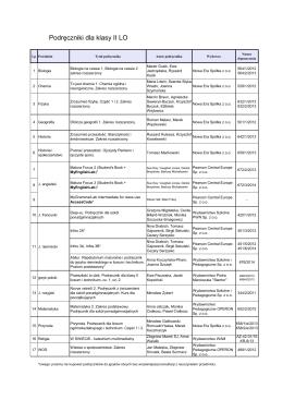 Podręczniki dla klasy II LO