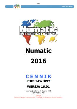 CENNIK NUMATIC 2016 - 16.01 podstawowy SPECJALNE CENY