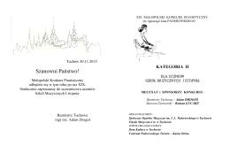 Szanowni Państwo! - Szkoła Muzyczna I st. w Tuchowie
