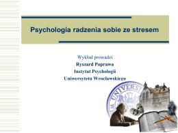 Psychologiczne zasoby radzenia sobie, zdrowia i szczęścia człowieka