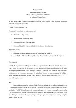 Protokół nr 9/2015 - plik pdf - Biuletyn Informacji Publicznej, Urząd