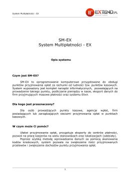 SM-EX System Multipłatności - EX
