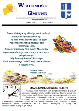 WIADOMOŚCI GMINNE - Gmina Wielopole Skrzyńskie