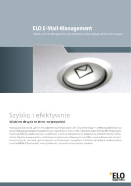 ELO - Zarządzanie wiadomościami e-mail