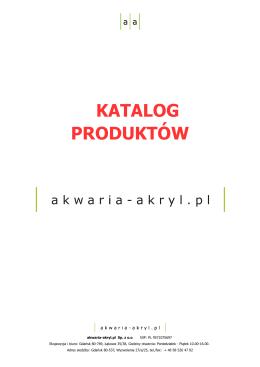 Katalogiem produktu – Akwaria