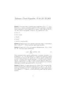 Zadania z Teorii Sygnałów, 17