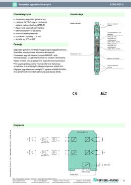 KCD2-SOT-2 Separator sygnałów binarnych