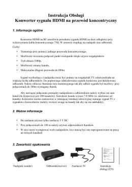Instrukcja Obsługi Konwerter sygnału HDMI na przewód