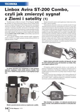 Linbox Avira ST-200 Combo, czyli jak zmierzyć sygnał z Ziemi i