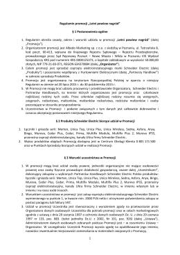 Regulamin promocji - Schneider Electric Polska