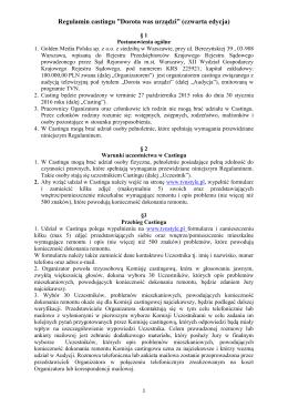 """Regulamin castingu """"Dorota was urządzi"""" (czwarta edycja)"""