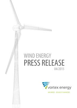 04/2015 - vortex energy buduje w Polsce trzy parki wiatrowe o mocy