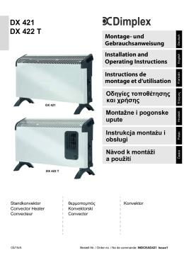 Standkonvektor DX-Reihe 2,0 kW