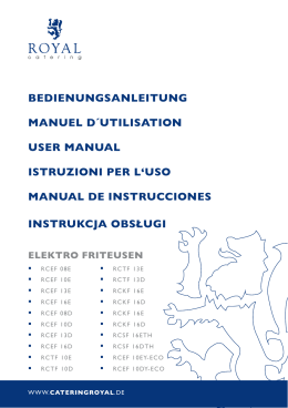 bedienungsanleitung manuel d´utilisation user manual