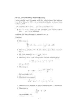 Garść teorii i zadań z matematyki dot. złożoności obl.