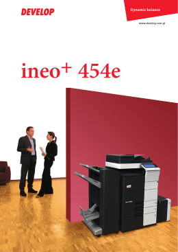 ineo+454e_broszura - printservice.com.pl