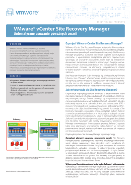 VMware vCenter Site Recovery Manager ®