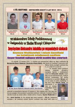 Łyk historii – Mistrzowie szkoły z lat 2010