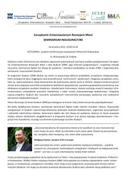 Seminarium ZZRM - program  - Fundacja Miejsc i Ludzi Aktywnych
