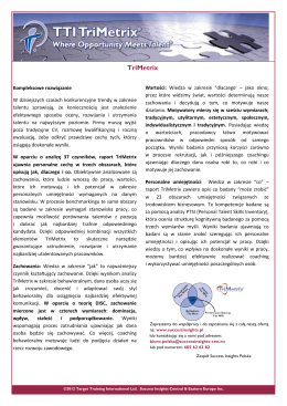 TriMetrix - TTI Success Insights Polska