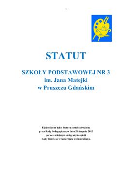 Statut - Szkoła Podstawowa nr 3 w Pruszczu Gdańskim